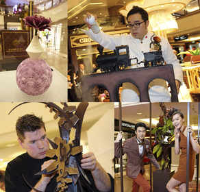 """""""Artistic Creation Chocolate Sculpture"""" Exhibition showcasing meticulously hand-crafted sculptures by two award-winning chocolate masters -- Marijn Coertjens from Belgium and Roger Fok from Hong Kong"""