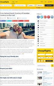 Cheapflights.ca Love, lust and travel: A survey of Canadian romance on the road