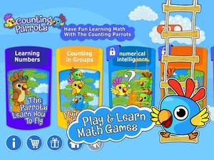 Counting Parrots Game - Kids Math App