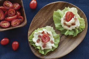A BLT (Asiago Bacon Lettuce Tomato)