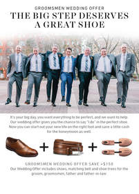 Allen Edmonds' Wedding Offer encourages grooms to invest in a pair of quality dress shoes that will serve them far beyond the big day.