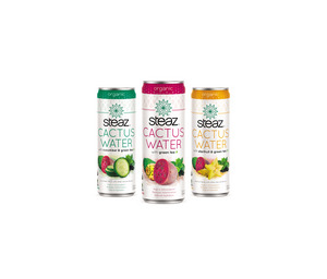 Steaz Cactus Water with Green Tea complete product line
