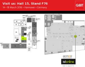 Find us in Hall 14 at Stand F76 (acmeo)
