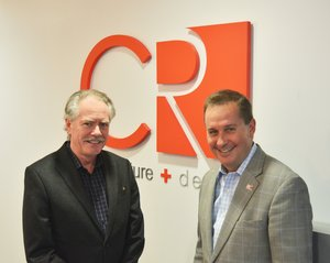David Arends (right), president and CEO of CR architecture + design, with Patrick Kirchberg, the newly named director of CR's new full-service Minneapolis office.