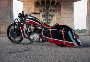 """""""Frontier 111"""" crafted by Azzkikr Custom Baggers"""