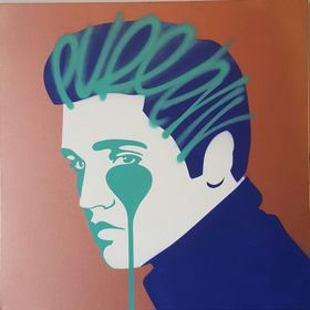 """""""Pure Elvis,"""" by the artist Pure Evil. Quin hotel exhibition, April 1-May 31, 2016"""