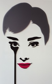 """""""Audrey,"""" by the artist Pure Evil.  Quin hotel exhibition April 1-May 31, 2016"""