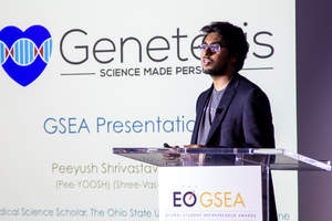 Peeyush Shrivastava, Ohio State University student and CEO of Genetesis, wins U.S. Nationals at EO's Global Student Entrepreneur Awards (GSEA)