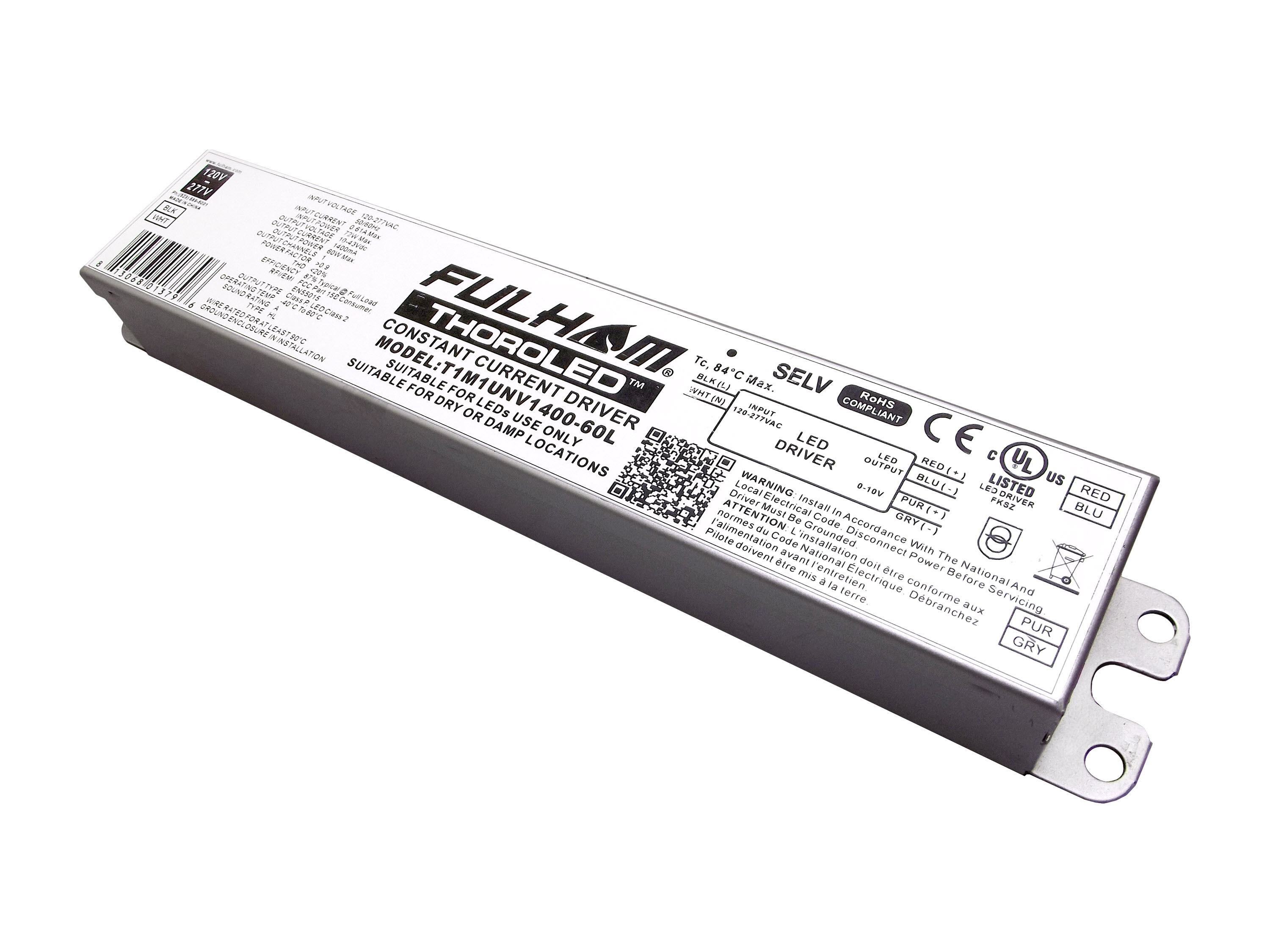 Fulham Receives Class P Listing For 60w Led Drivers From Underwriter