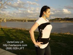 VerteCore Lift - Immediate Back Pain Relief. The VerteCore Lift provides on-the-go spinal decompress