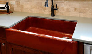 Red Kitchen Sink