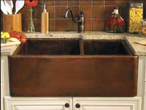 Brown Kitchen Sink