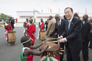 The Secretary-General in Burundi to meet President Pierre Nkurunziza in support of the UN's ongoing efforts at resolving Burundi's political crisis and saving lives, on 23 February 2016 Credit: UN Photo/Eskinder Debebe
