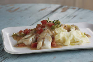 Smothered Cod or Pollock