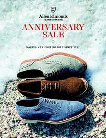The Allen Edmonds Anniversary Sale will include brand-new spring styles like the Strandmok 2.0 in suede.