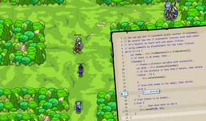 With CodeCombat, students learn how to code by playing a game.