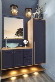 Bathroom lighted cabinet