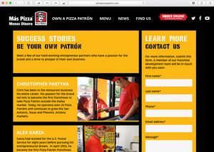 Own a Pizza Patron Website