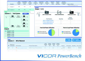 Introducing Vicor's new Power System Designer online design tool, part of Vicor's PowerBench tool suite