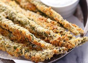 Parmesan Herb Asparagus Fries with Creamy Greek Yogurt Ranch