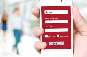 job app on smartphone
