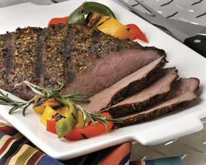 Pepper and Herb Crusted Flank Steak