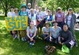 Team Sue, supporting Sue Hester, already has 30+ members for the June 11th Jodi's Race for Awareness and has raised nearly $5,000.