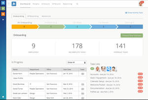 Dashboard view of Greenhouse Onboarding.