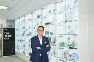 Simon Yu, president of Arrow's components business in Asia-Pacific, in the newly launched Arrow Open Lab at Hong Kong Science Park.