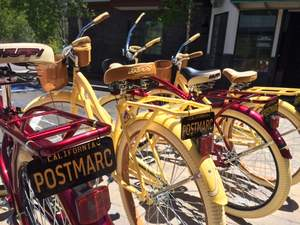 Brand new complimentary crusiers for Postmarc guests for a Lakeside ride!
