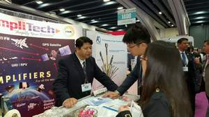 AmpliTech employees at IMS2016 Trade Show