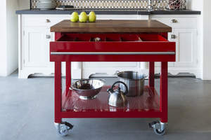 """""""The Cart"""" is the first piece in Moya Living's new Concept Series line of modular, modifiable steel furniture."""