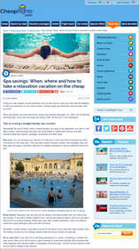 Cheapflights.com Spa savings: When, where and how to take a relaxation vacation on the cheap