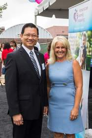 Andrew Do, Supervisor, First District, Orange County Board of Supervisors and Donna Gallup, AFH President & CEO. Photo Credit: Edward Eugene Oliver Photography