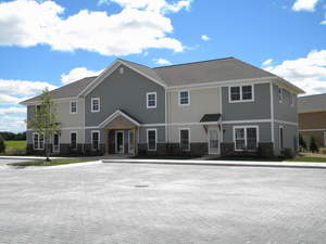The Pokagon Band of Potawatomi Indians has completed the first phase of its Tribal Village in Hartford, Michigan.  Located on Red Arrow Highway, Pokégnek Édawat Hartford includes eight homes consisting of townhomes and two duplexes.