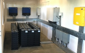Loisaba Battery and Controls Room with 106 kWh of Aquion AHI Batteries