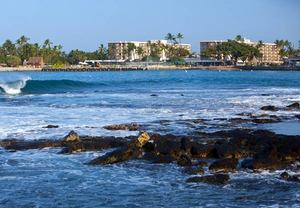 Kona beachfront hotel