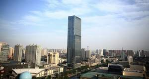 Standing 245 meters tall, the Kai Yuan Finance Center is the tallest building in Shijiazhuang and Hebei province. It is located in the central business area of the city.