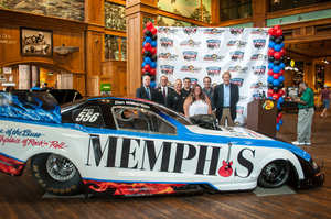 Memphis International Raceway and Memphis Convention & Visitors Bureau Unveil Memphis-Themed Nitro Funny Car