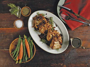 Pork with Balsamic Glaze and Rosemary