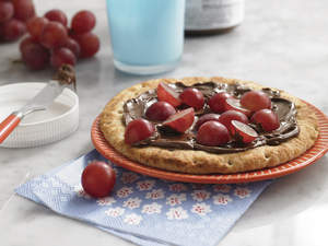 Chocolate Pizza with Grapes