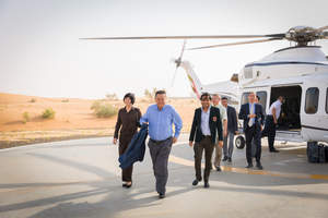 Arriving for the Deal Signing Ceremony-- Zhang Min (VP, Miteno), Zhang Zhiyong (Chairman, Miteno), Div Turakhia