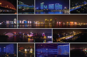 Wuhan city is transformed by Osram Lighting Solutions into the largest synchronized LED screen on earth, with over 20km of synchronized LED lightshow weaving fairytales into the night sky and river reflections.