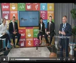 Open Discussion with Dagny Scott, Co-Founder, Fearless Unlimited, Freya Williams, CEO- North America, Futerra and Alan Bethke, SVP, Marketing Subaru America, on SDG's and Marketing. Moderator: Sergio Fernandez de Cordova