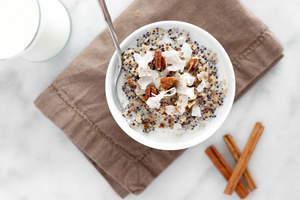 Chai Quinoa Protein Breakfast Bowl