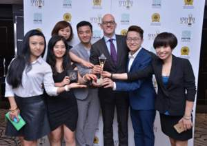 Winners in the 2016 Asia-Pacific Stevie Awards.