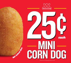 Wienerschnitzel Mini Corn Dogs
