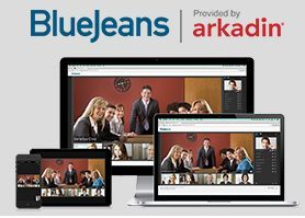 BlueJeans provided by Arkadin.