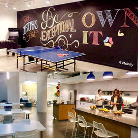 Mobile customer engagement leader Mobify's new headquarters at 725 Granville St. in Vancouver, BC.