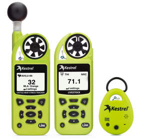 cattle heat stress, environmental meter, weather meter